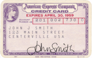 American Express purple credit card